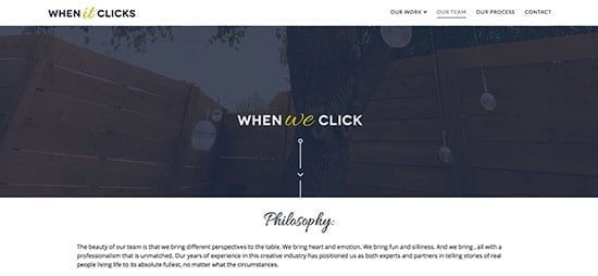 videographer website