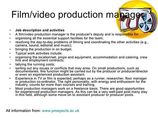 how to get a job in film making